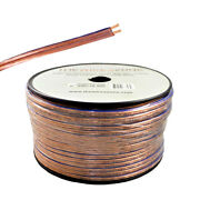 Clear 500ft 16 Gauge Speaker Wire Cable Dual Conductors Cca For Car / Home Audio