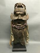 African Art Dan Guere Mask With Stand