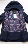 Rare Barbour Wytherstone Womenand039s Waterproof Rain Jacket Floral - Navy Us 6 8