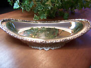 National Silver Plate On Copper Bowl Dishtray Plate 12-7/8 Au Gratin Oval Heavy