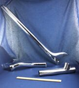 Vintage Motorcycle Parts Exhaust Pipes Fishtail Y S Bend Chrome 3