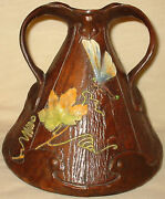 Bretby Art Pottery Arts And Crafts Ligna Ware Vase