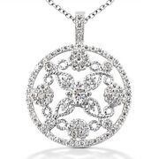 1.55 Carats Tw Womenand039s Heart Diamond Pendant In 14k White Gold