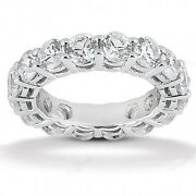 2.85 Carats Tw Ladies Round Cut Diamond Eternity Band Ring In 14k White Gold