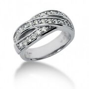 0.80 Carats Tw Womenand039s Round Brilliant Cut Diamond Ring In 14k White Gold