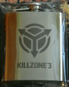 New Killzone 3 Flask Stainless Steel 8 Oz. Sony Playstation 3. Rare Promo.
