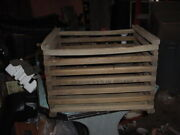 Vintage Wood Apple Fruit Potato Egg Crate Box With Lid 18 X 15 X 13 Owosso Mich