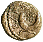 Caracalla Ae15 Of Carrhae Radiate And Six Pointed Star, Crescent Good Vf