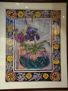 Beautiful Rare Magnificent Floral Style Painting Sheila Cappelletti