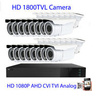 16ch Hdmi 4-in-1 Dvr 1800tvl 9-22mm Long Distance Zoom Security Camera System G5