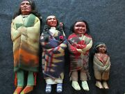 Native American Indian , Pre Wwii Era, Skookum Family Doll Group,  Buf-01237