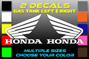 Honda Motorcycle Gas Tank Left And Right Stickers 2 Decals