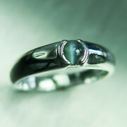0.32cts Natural Alexandrite Cat's Eye Sterling 925 Silver Unisex Engagement Ring