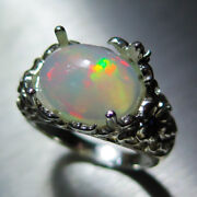 4.15ct Natural Welo Opal Multi-colour 925 Silver /9ct 14k 18k Gold Platinum Ring