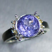 2.2ct Natural Purple Apatite And Sapphires 925 Silver / 14k 18k Gold Platinum Ring