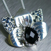 Natural Dark Blue Spinel And Sapphires 9ct 14k 18k Yellow White Rose Gold Pendant
