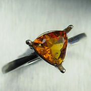 0.75ct Natural Rare Clinohumite 925 Silver /14k 18k Gold Platinum Solitaire Ring