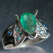 Natural Colombian Emerald Andalexandrite 925 Sterling Silver / Gold Ring All Sizes