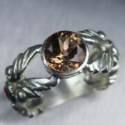 1.6ct Natural Imperial Topaz 925 Silver /9ct 14k 18k 18ct 375 585 750 Gold Ring