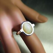 1.70ct Natural Welo Opal 925 Silver 9ct 14k 18k Gold Platinum Engagement Ring