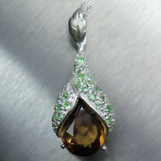7.85ct Natural Imperial Topaz 925 Sterling Silver / 9ct 14k 18k Gold Pendant