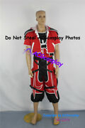 Kingdom Hearts 2 Ii Sora Brave Form Cosplay Costume Include Necklace Prop Gloves