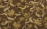 Touchdown Kahlua And Cream Repeat Pattern Luxury Indoor Custom Cut Area Rug