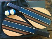 Berluti Beachball Set Rare Collectible Brand New Sold Out New 2 Rackets And Balls