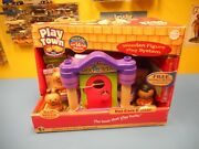 Learning Curve Playtown Pet Care Center Wooden Figure Play System New