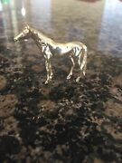 And Co 14k Gold Ruby Horse Pin Brooch - Heavy Rare Numbered