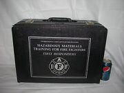 Vintage Fireman Locking Hard Shell Case W/keysiaff Firefighters Collectibles