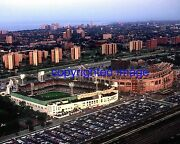 Old Comiskey Park Aerial Shot With New Comiskey Being Built Color 11x14 Z