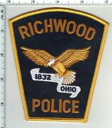 Richwood Police Ohio 1st Issue Shoulder Patch