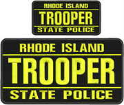 Rhode Island Trooper State Police Emb Patch 6x11and3x6 Hook On Back Blk/yellow