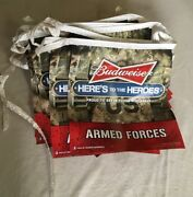 Budweiser Army Armed Forces Beer Banner Here's To The Heroes 2012
