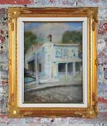 Claude Buck Birthplace House In The Bronx 1913 Original Oil Painting-signed