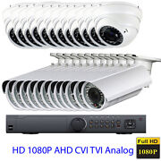 24channel 1080p Hdtvi Dvr Ahd 4-in-1 Ture 2.6mp Osd Menu Security Camera System