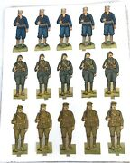 Vintage Paper Toy Soldiers And Sailors