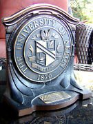 University Of Ohio Akron / Knute Rockne Bowl / 1976 Rubber Bowl Trophy Over 5lbs