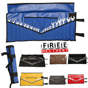 Wrench Tool Holder 22 Pockets Mechanic Canvas Roll Up Pouch Storage Organizer