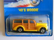 Ultra Rare And03940and039s Woodie-blue Card-51-hot Wheels-original-vhtf-collectors