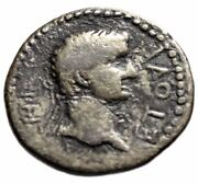 Britannicus And King Polemo Ii Of Pontus Ar Drachm Busts Dated Year 18 55/56 Ad