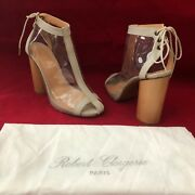 Opening Ceremony Robert Clergerie Saxo Clear Vinyl Booties Ankle Boots 7 595