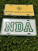 Notre Dame Academy Car License Plates New - His And Hers For Two Cars Bundle.