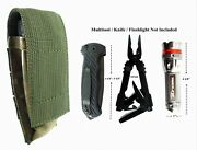 Green Camo Pouch For Gerber Mp800 Mp600 Multitool Folding Knife Or Flashlight