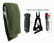Army Green Pouch For Gerber Mp800 Mp600 Multi Tool Folding Knife Or Flashlight