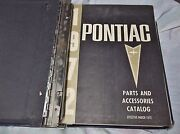 1972 Pontiac Parts And Accessories Catalog 60's To 72