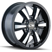 Ion Alloy 102 Rim 18x8 5x130 Offset 50 Black W/machined Face Quantity Of 4