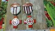 Ww2 British Red Cross Lot 2 Medals To Couple Or Brothers Very Nice