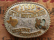 Red Bluff Buckles Cowboy Rodeo Reserve Champion Western Trophy Belt Buckle
